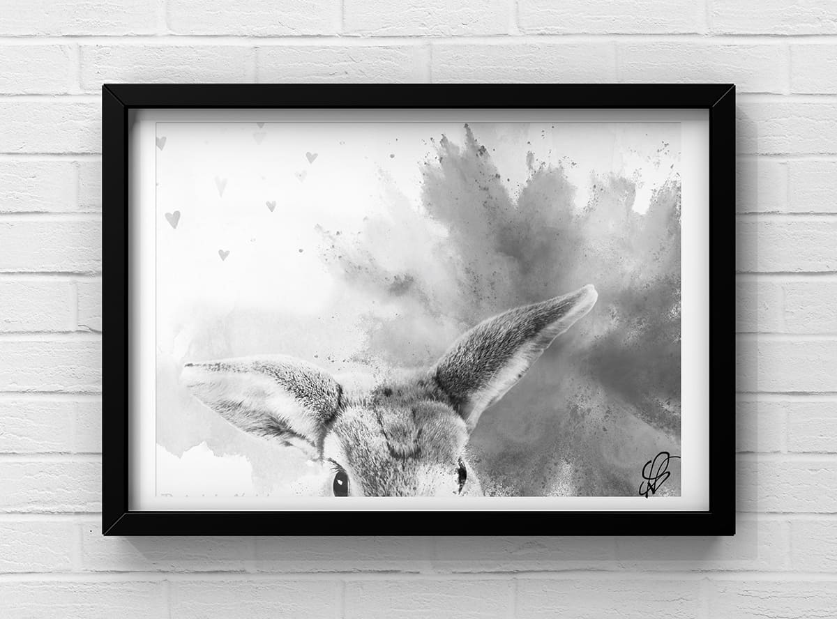 rabbit pet portrait drawing artist Harold Hill Harold Wood Gidea Park Hornchurch Romford Collier Row Rush Green Noak Hill